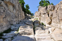 Perperikon is consecrated to Dionysus Stock Photo