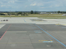 Perpesctive luchthavenbaan Royalty-vrije Stock Afbeelding