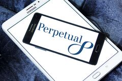 Perpetual Limited logo. Logo of Perpetual Limited on samsung mobile. Perpetual is an Australian investment and trustee group; providing investment products stock image