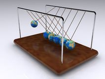 Perpetual motion. A 3d illustration of a toy of perpetual motion Stock Photography