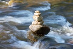perpetual stream with tower royalty free stock photo