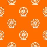 Perpetuum mobile deseniuje wektorowej pomarańcze royalty ilustracja