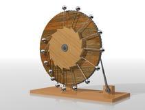 Perpetuum mobile. Leonardo da Vinci`s perpetual motion machine. stock illustration