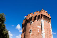 Perpignan. View of the old prison of Perpignan called El Castillet, today is a catalan museum Royalty Free Stock Images