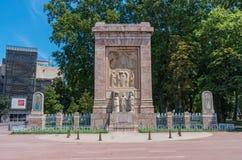 Monument Aux Morts Pour La France in Perpignan, France. Perpignan, France - July 27, 2014: Monument Aux Morts Pour La France, sculptor Gustave Violet Stock Photography