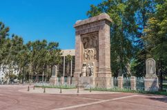 Monument Aux Morts Pour La France in Perpignan, France royalty free stock images