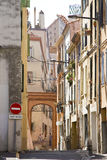 Perpignan, France. View of a street in Perpignan, France stock photography