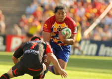 Perpignan's player Henry Tuilagi Stock Image
