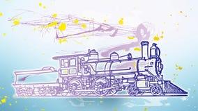 Perple lokomotiv Arkivbild