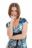perplexed женщина Стоковое Изображение RF