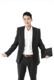 Perplexed businessman with a tablet Royalty Free Stock Image