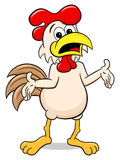 Perplexed cartoon chicken Royalty Free Stock Images