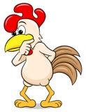 Perplexed cartoon chicken. Vector illustration of a perplexed cartoon chicken Stock Images