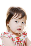 Perplexed little girl Stock Photos
