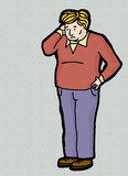 Perplexed Man Cartoon Stock Photos