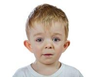 Perplexity baby boy isolated Stock Photos