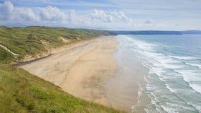 Perran strand i Cornwall Royaltyfria Bilder