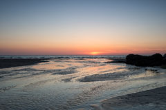 Perranporth al tramonto fotografia stock