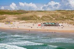 Perranporth Beach England UK. Overlooking Perranporth Beach England UK Europe Royalty Free Stock Photography