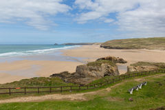 Perranporth beach North Cornwall England UK Royalty Free Stock Images