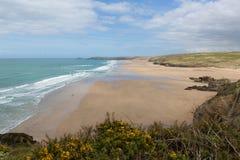 Perranporth beach North Cornwall England UK Stock Photography