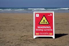 Perranporth, Cornwall, UK - April 9 2018: RNLI Lifeguard sign on stock photos