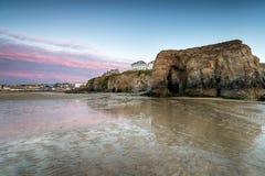 Perranporth i Cornwall Arkivfoto