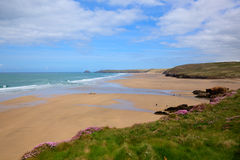 Perranporth North Cornwall England UK rich colours royalty free stock images
