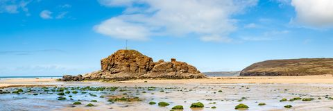 Perranporthstrand Cornwall Engeland het UK stock afbeelding