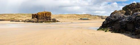 Perranporthstrand Cornwall Engeland het UK stock afbeeldingen