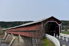 Perrault Covered Bridge Royalty Free Stock Photography