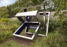 Perre-` s Ventaglio III durch Beverly Pepper, olympischer Skulpturenpark, Seattle, Washington, Vereinigte Staaten lizenzfreie stockfotografie