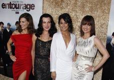 Perrey Reeves, Debi Mazar, Emmanuelle Chriqui och Carla Gugino arkivbild
