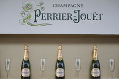 Perrier-Jouet champagne presented at the National Tennis Center during US Open 2015 Royalty Free Stock Image