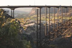 Perrine Brücke in den Doppelfällen, Idaho lizenzfreie stockfotografie