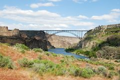 Perrine Bridge über Snake River stockfoto