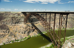 Perrine Bridge. Popular base jumping bridge and cliff face in background Royalty Free Stock Photography