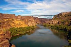 Perrine Bridge au-dessus de la rivière Snake Image libre de droits
