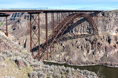 Perrine Memorial Bridge, Snake River Canyon, Idaho Stock Images