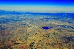 湖Perris状态在Edgemont的度假区从上面 库存图片
