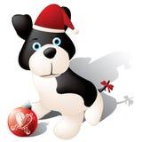 Perrito de la Navidad stock de ilustración