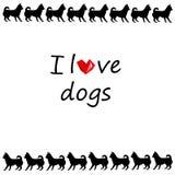 Perrito del ejemplo de la historieta del vector de la chihuahua del perro Imagen de archivo libre de regalías