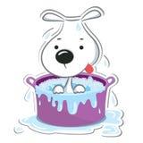Perrito divertido Aislado en blanco sticker Fotografía de archivo