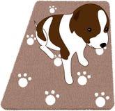 Perrito en la manta Foto de archivo