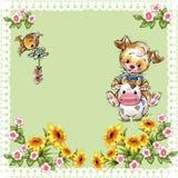 Perrito feliz divertido en una página del color Imágenes de archivo libres de regalías