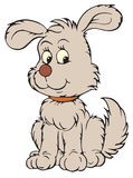 Perrito gris (clip-arte del vector) Foto de archivo libre de regalías