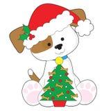 Perrito lindo Papá Noel Fotografía de archivo libre de regalías