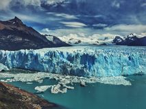 Perrito Moreno. Most famous glacier in Argentina, Patagonia Royalty Free Stock Photo