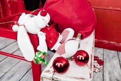 Perrito Papá Noel foto de archivo
