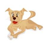 Perrito que mastica en un hueso Imagenes de archivo